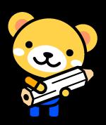 鉛筆を持ったクマ