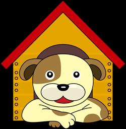 犬小屋の犬